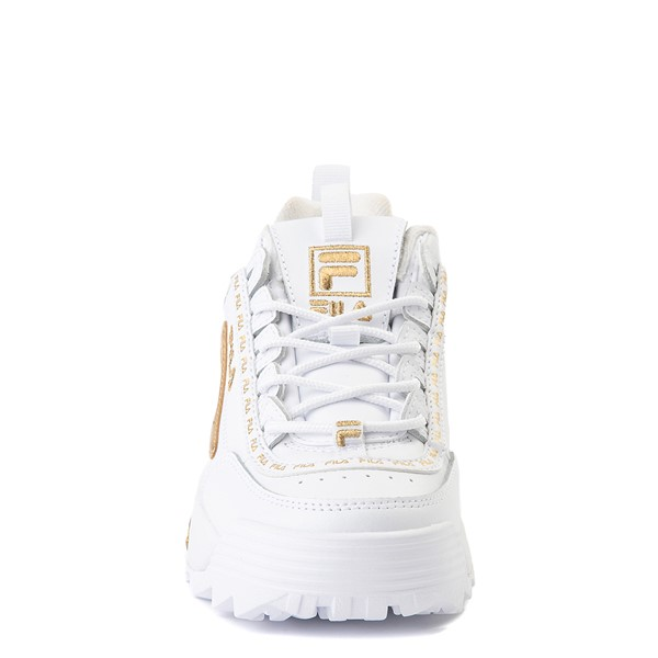 alternate view Fila Disruptor 2 Athletic Shoe - Big Kid - White / GoldALT4