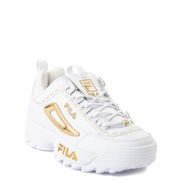 alternate view Fila Disruptor 2 Athletic Shoe - Big Kid - White / GoldALT5