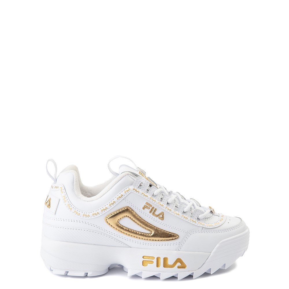Fila Disruptor 2 Athletic Shoe - Big Kid - White / Gold