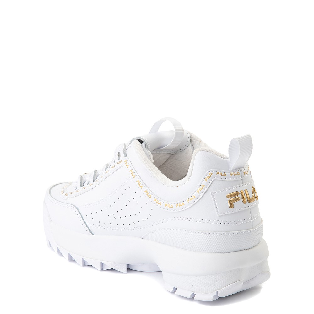 Fila Disruptor 2 Athletic Shoe Big Kid White Gold