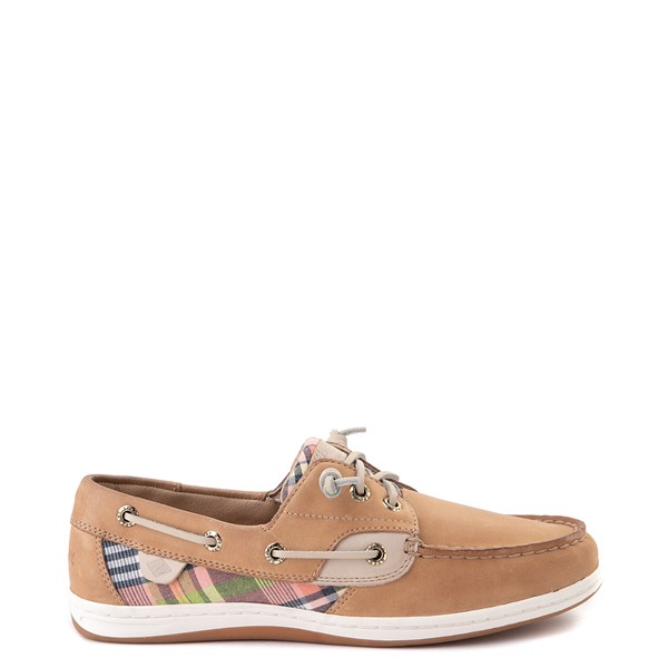 Womens Sperry Top-Sider Songfish Boat Shoe - Tan / Plaid