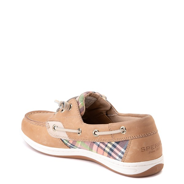 alternate view Womens Sperry Top-Sider Songfish Boat Shoe - Tan / PlaidALT1