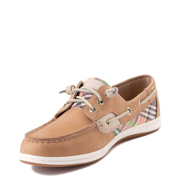 alternate view Womens Sperry Top-Sider Songfish Boat Shoe - Tan / PlaidALT2