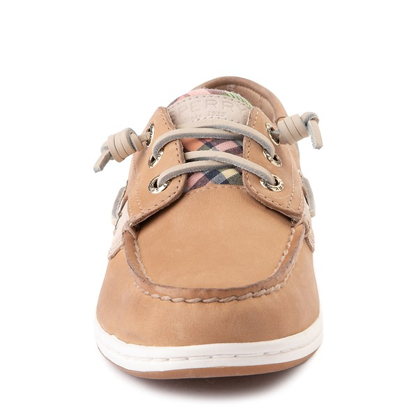 alternate view Womens Sperry Top-Sider Songfish Boat Shoe - Tan / PlaidALT4