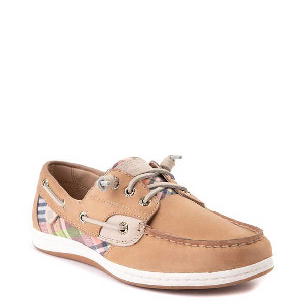 alternate view Womens Sperry Top-Sider Songfish Boat Shoe - Tan / PlaidALT5