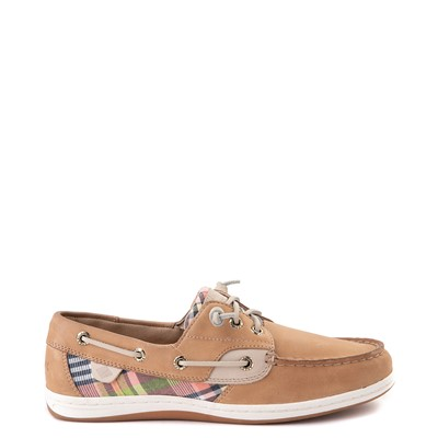 Main view of Womens Sperry Top-Sider Songfish Boat Shoe - Tan / Plaid