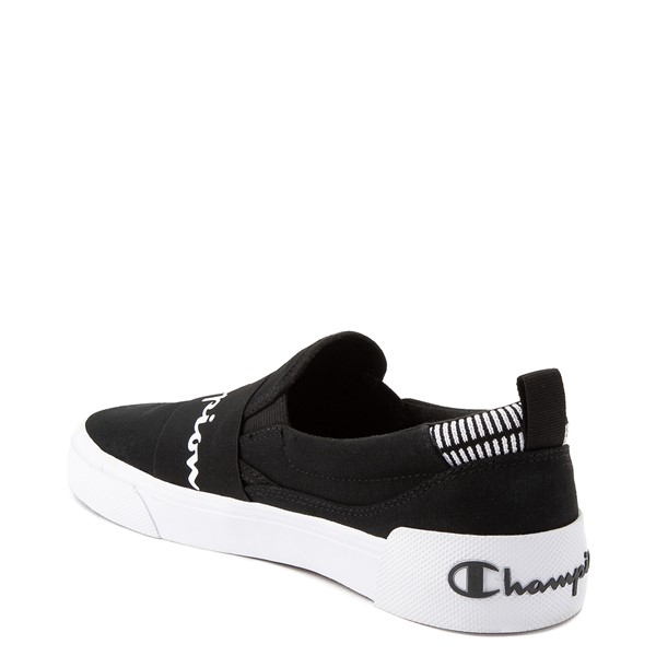 alternate view Mens Champion Rally Slip On Athletic Shoe - BlackALT1