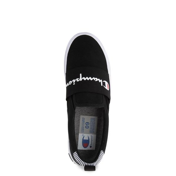 alternate view Mens Champion Rally Slip On Athletic Shoe - BlackALT4B