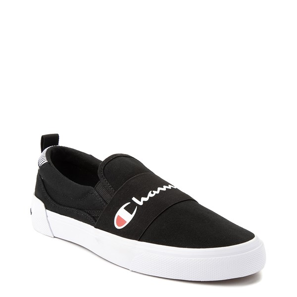 alternate view Mens Champion Rally Slip On Athletic Shoe - BlackALT5