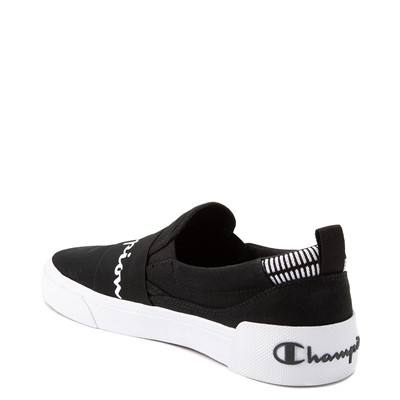 Alternate view of Mens Champion Rally Slip On Athletic Shoe - Black