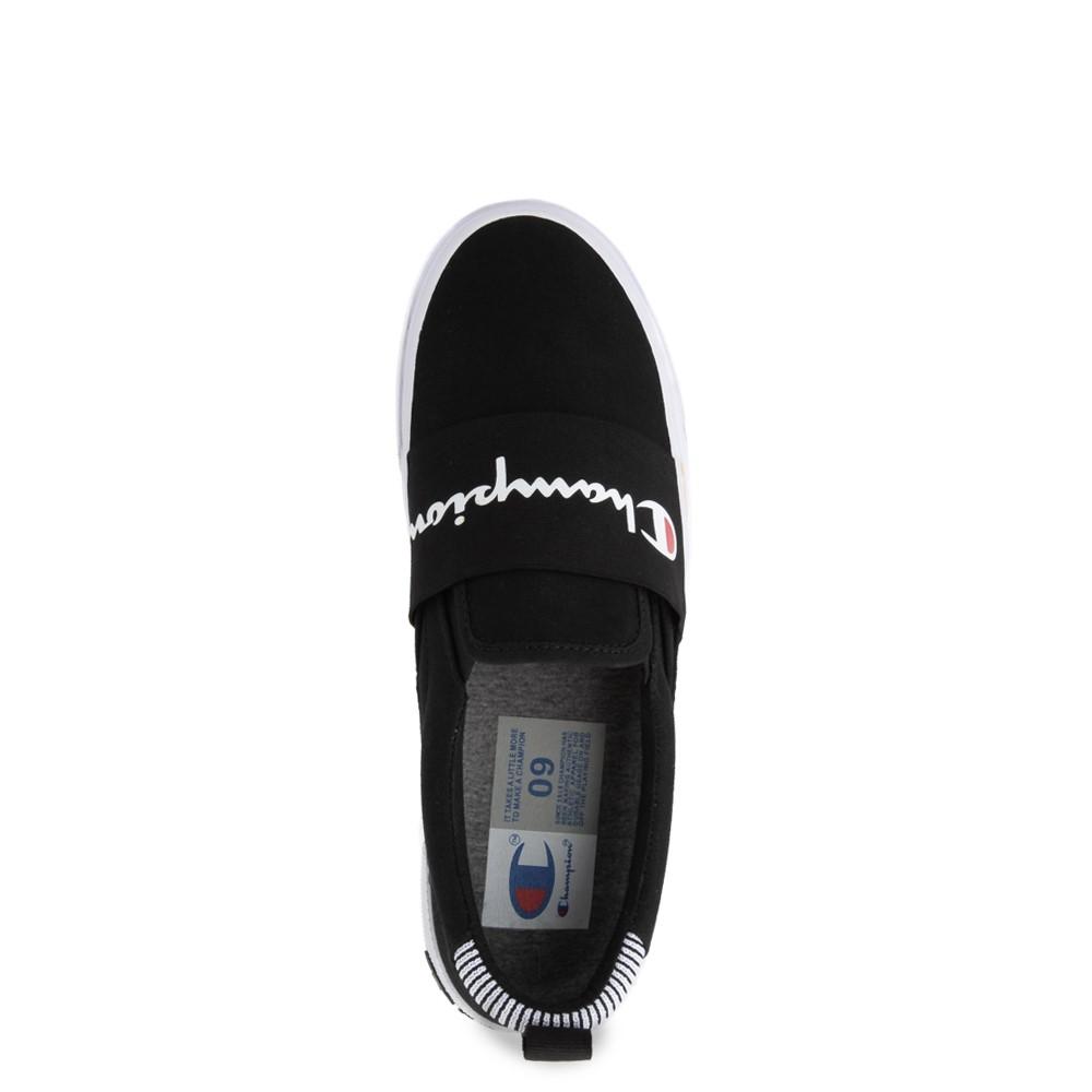 black slip shoes