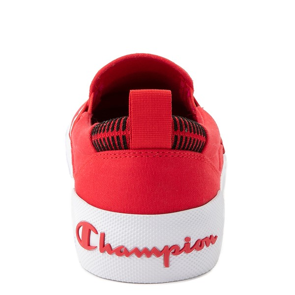 alternate view Mens Champion Rally Slip On Athletic Shoe - RedALT4
