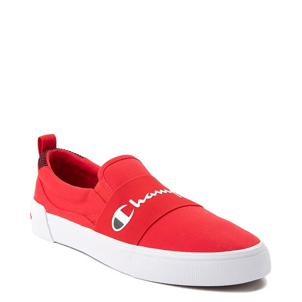 alternate view Mens Champion Rally Slip On Athletic Shoe - RedALT5