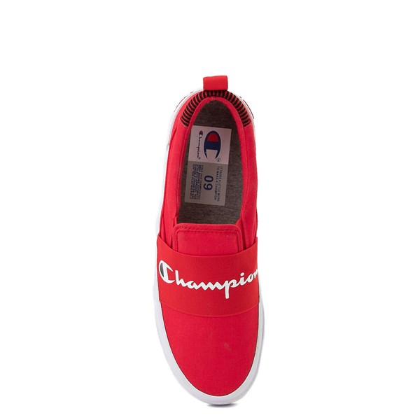 alternate view Mens Champion Rally Slip On Athletic Shoe - RedALT6