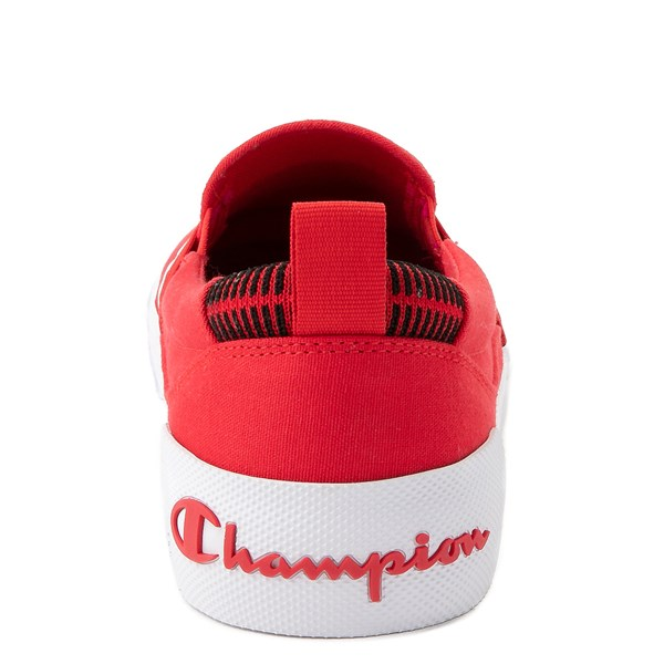 alternate view Mens Champion Rally Slip On Athletic Shoe - RedALT7