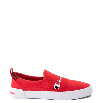 Main view of Mens Champion Rally Slip On Athletic Shoe - Red