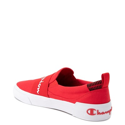 Alternate view of Mens Champion Rally Slip On Athletic Shoe - Red