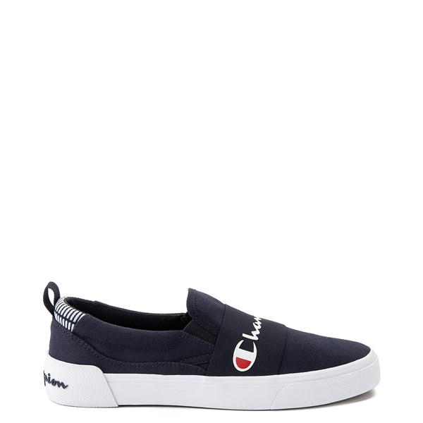 Main view of Mens Champion Rally Slip On Athletic Shoe - Navy