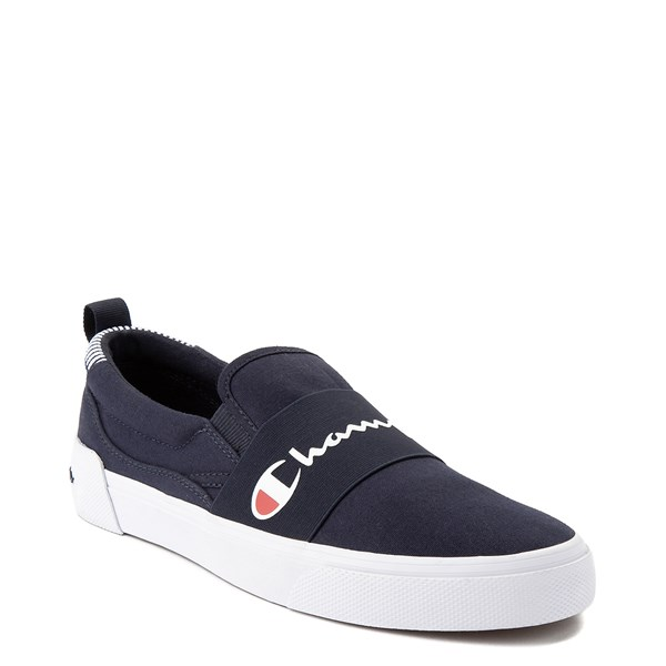 alternate view Mens Champion Rally Slip On Athletic Shoe - NavyALT1
