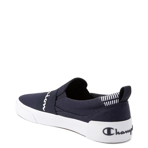 alternate view Mens Champion Rally Slip On Athletic Shoe - NavyALT2