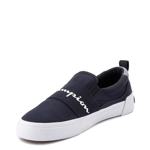 alternate view Mens Champion Rally Slip On Athletic Shoe - NavyALT3