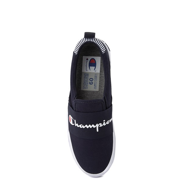 alternate view Mens Champion Rally Slip On Athletic Shoe - NavyALT6