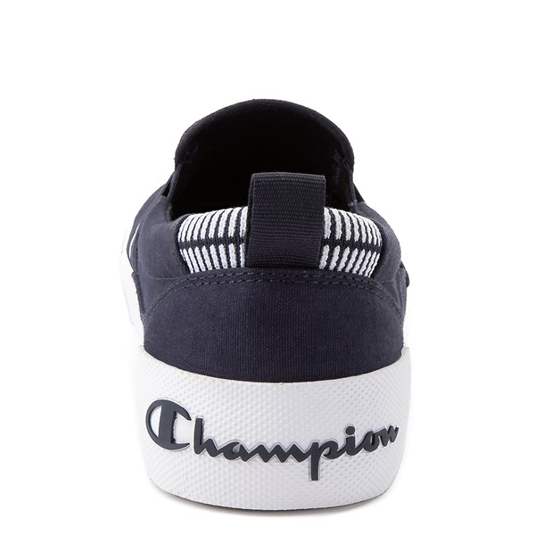 alternate view Mens Champion Rally Slip On Athletic Shoe - NavyALT7
