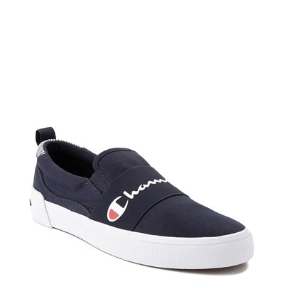 Alternate view of Mens Champion Rally Slip On Athletic Shoe - Navy