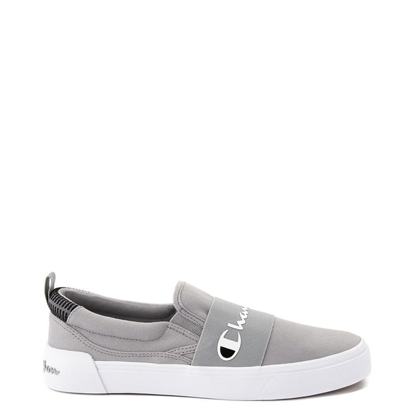 Main view of Mens Champion Rally Slip On Athletic Shoe - Gray