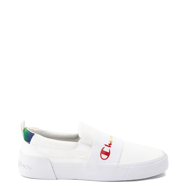 Womens Champion Rally Slip On Athletic Shoe - White / Multi