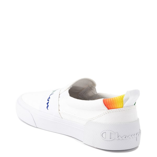 alternate view Womens Champion Rally Slip On Athletic Shoe - White / MultiALT1