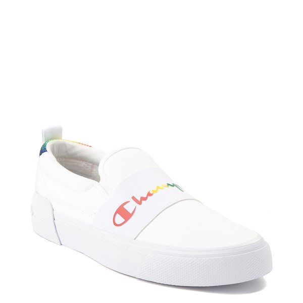 alternate view Womens Champion Rally Slip On Athletic Shoe - White / MultiALT5