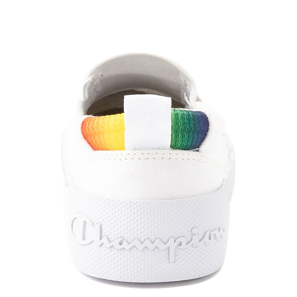 alternate view Womens Champion Rally Slip On Athletic Shoe - White / MultiALT7