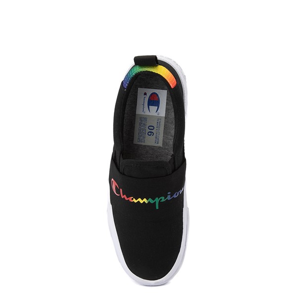 alternate view Womens Champion Rally Slip On Athletic Shoe - Black / MultiALT2