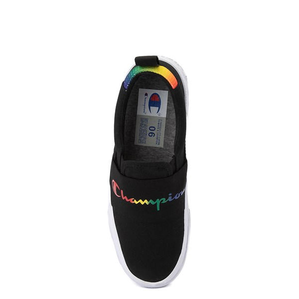 alternate view Womens Champion Rally Slip On Athletic Shoe - Black / MultiALT6