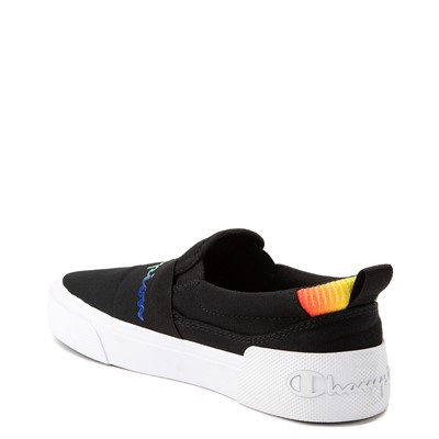 Alternate view of Womens Champion Rally Slip On Athletic Shoe - Black / Multi