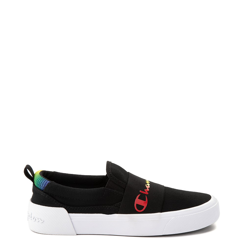 Womens Champion Rally Slip On Athletic Shoe - Black / Multi