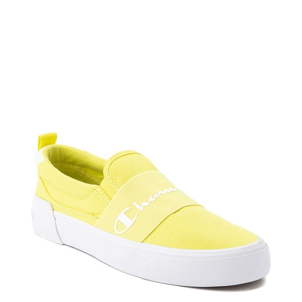 alternate view Womens Champion Rally Slip On Athletic Shoe - YellowALT1