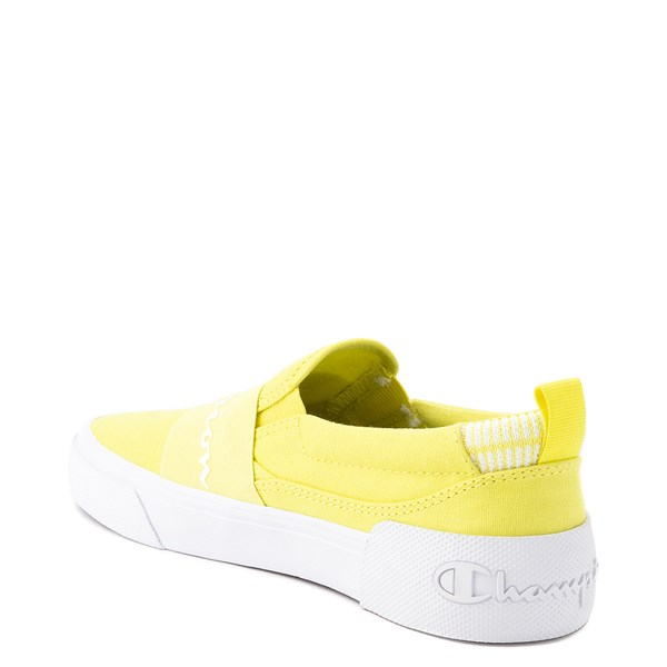 alternate view Womens Champion Rally Slip On Athletic Shoe - YellowALT2
