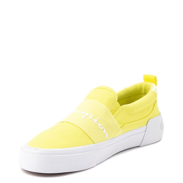 alternate view Womens Champion Rally Slip On Athletic Shoe - YellowALT3