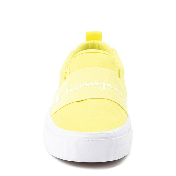 alternate view Womens Champion Rally Slip On Athletic Shoe - YellowALT4