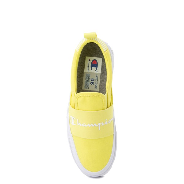 alternate view Womens Champion Rally Slip On Athletic Shoe - YellowALT6