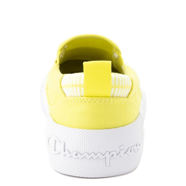 alternate view Womens Champion Rally Slip On Athletic Shoe - YellowALT7