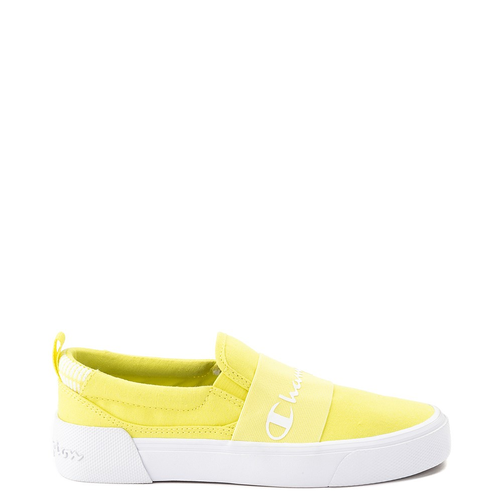 Womens Champion Rally Slip On Athletic Shoe - Yellow