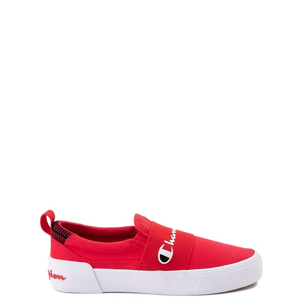 Main view of Champion Rally Slip On Athletic Shoe - Big Kid - Red