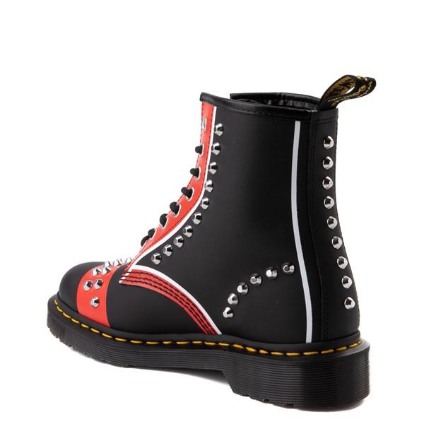 alternate view Dr. Martens 1460 8-Eye Stud Boot - Black / RedALT2