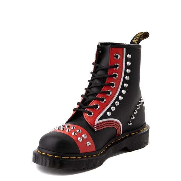 alternate view Dr. Martens 1460 8-Eye Stud Boot - Black / RedALT3