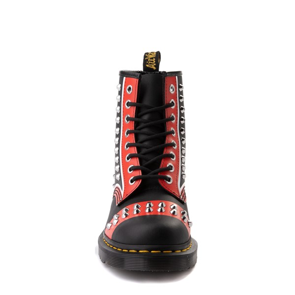 alternate view Dr. Martens 1460 8-Eye Stud Boot - Black / RedALT4