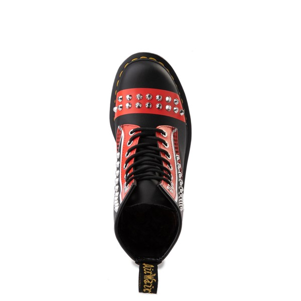 alternate view Dr. Martens 1460 8-Eye Stud Boot - Black / RedALT4B