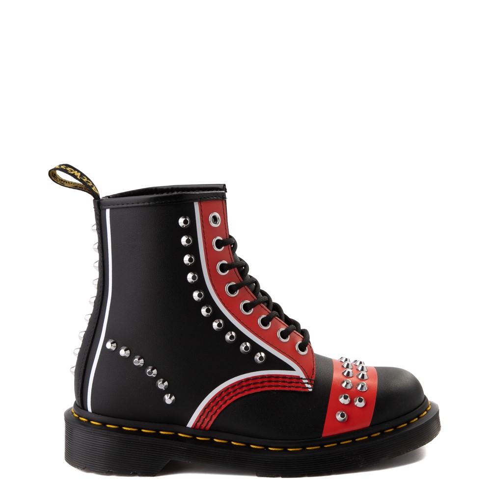Dr. Martens 1460 8-Eye Stud Boot - Black / Red